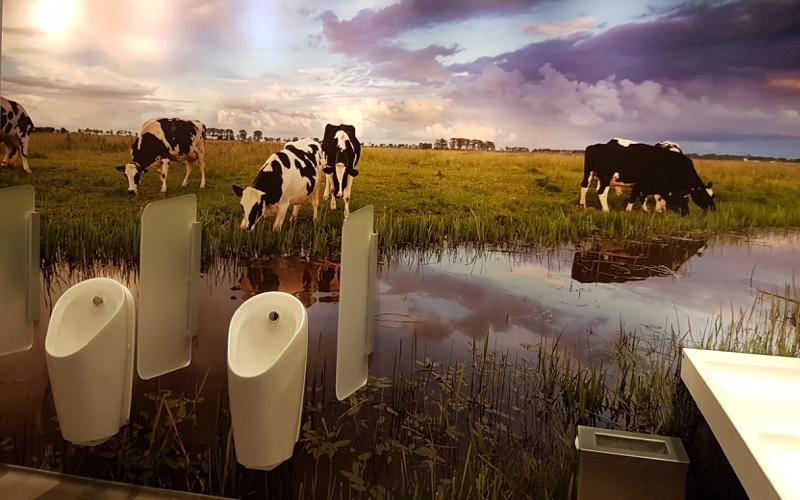 Fotobehang sanitair